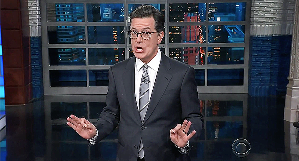 Colbert mocks Trump's attacks on NYT's Haberman: 'The accurate reporting is coming from inside the White House!'