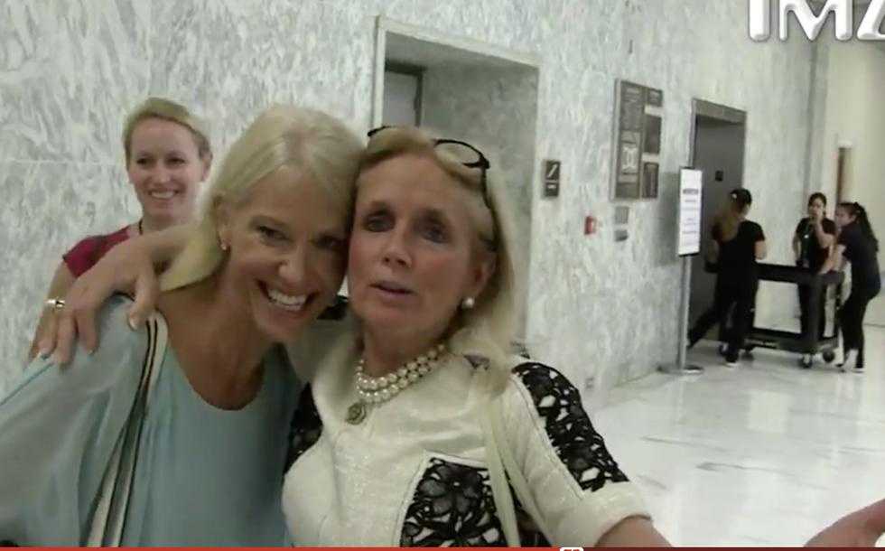 WATCH: Kellyanne Conway uses Dem congresswoman as human shield against 'facelift tweet' questions
