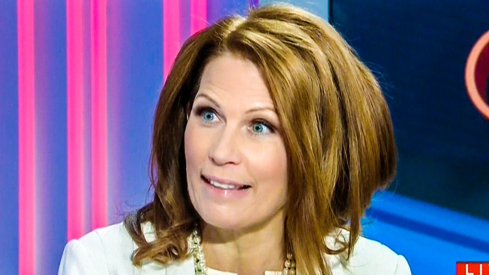 Michele Bachmann upset we can't indoctrinate immigrants into Christianity