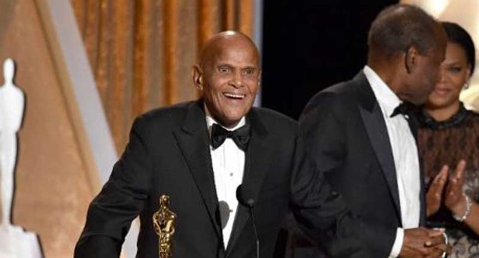 Actor and activist Harry Belafonte gets honorary humanitarian Oscar