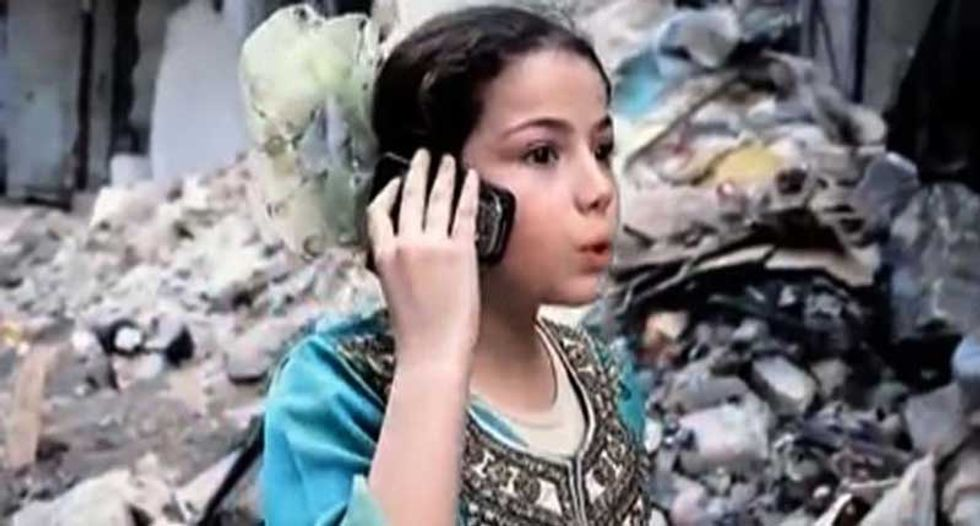 Nine-year-old girl star of YouTube comedy depicting harsh life in war-torn Syria