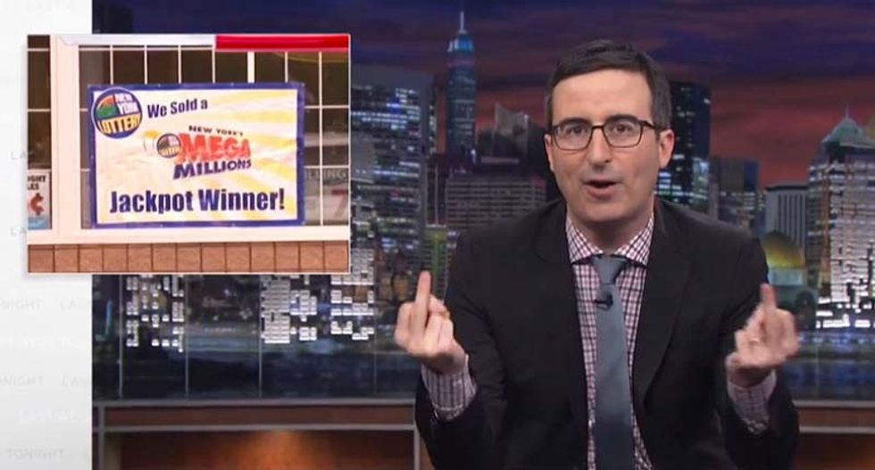 John Oliver: Americans foolishly 'spend more on the lottery than they do on America'