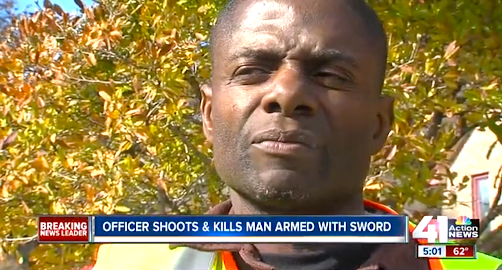 Family doesn't understand why cops shot sword-wielding man on second-story porch