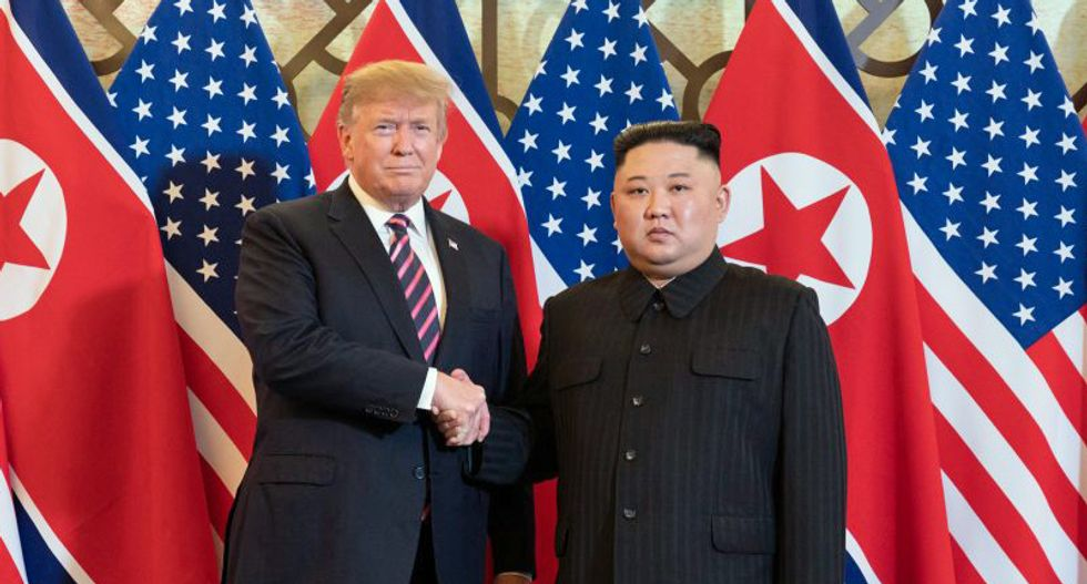 Kim Jong Un gushed about holding Trump's hand as the world watched: Woodward