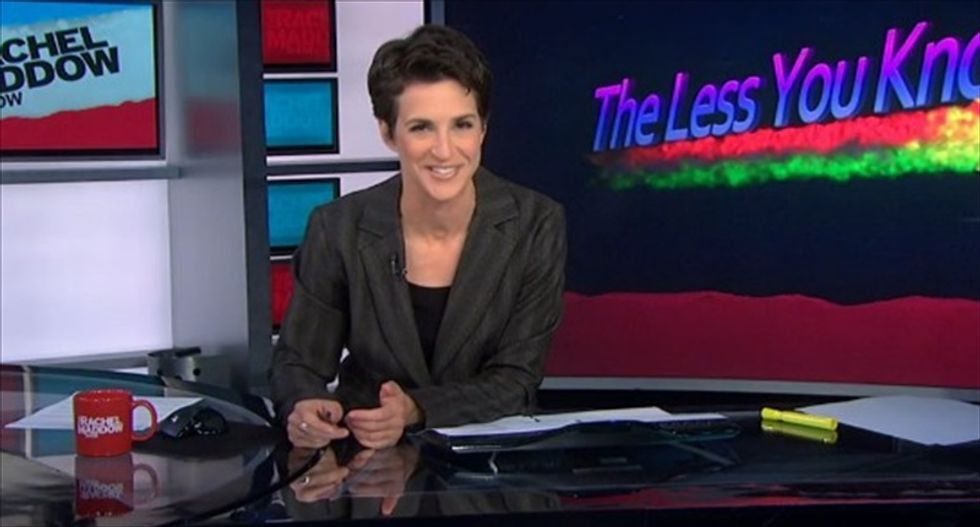 Rachel Maddow trolls Arizona Tea Partiers threatening to censor biology textbooks