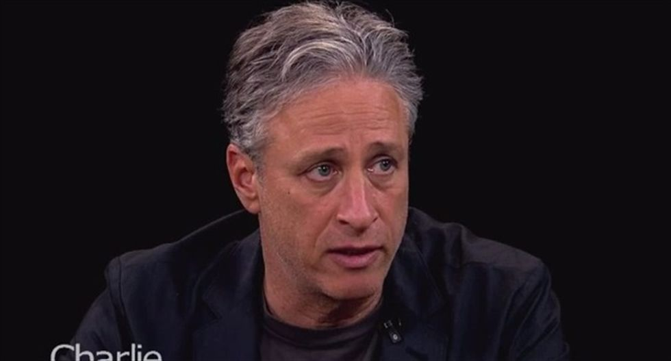 Jon Stewart: 'Evil is relatively rare. Ignorance is epidemic'