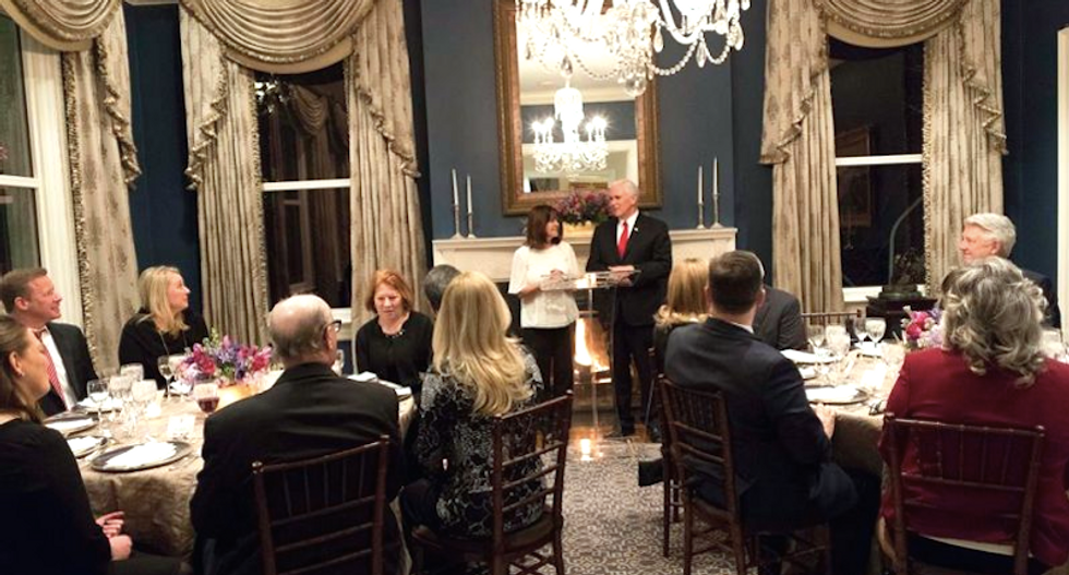 Mike Pence shares 'intimate' dinner with right-wing pastor who prays for deaths of liberal justices