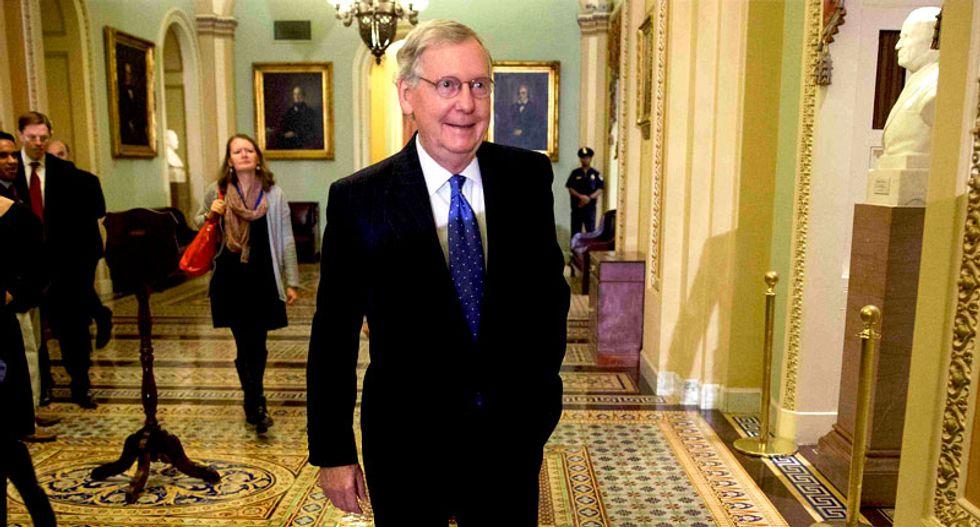 No surprises: Senate Republicans select Mitch McConnell for majority leader