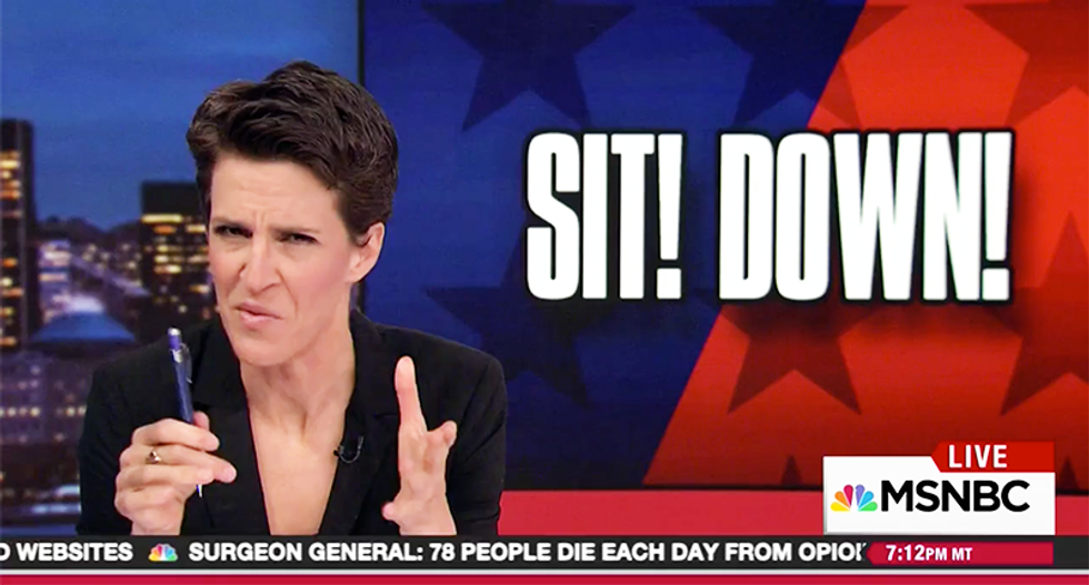 MSNBC's Rachel Maddow tells the GOP to toughen up by showing videos of tea party spitting on Democrats in 2010