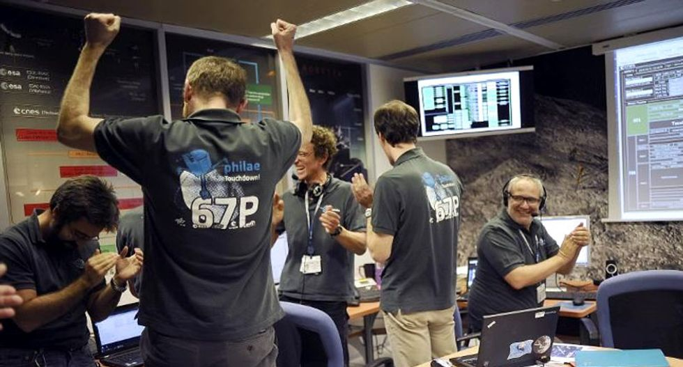 'This is a big step for human civilization': Europe's Philae probe lands on a comet