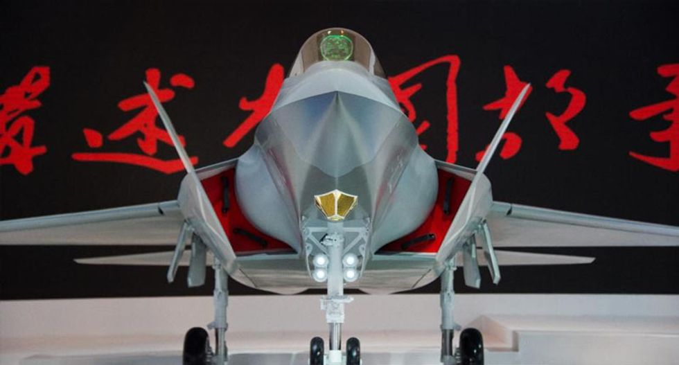 China shows off its new J-31'Falcon Eagle' stealth fighter