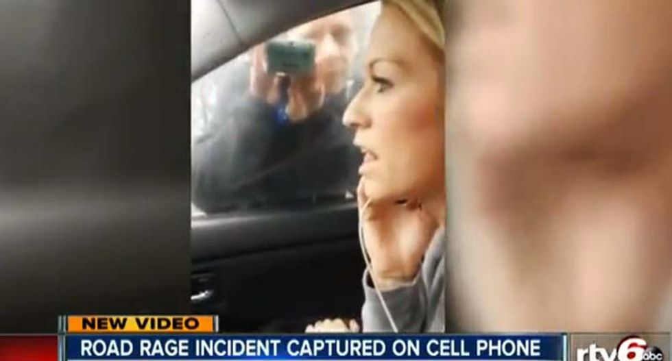WATCH: Woman claiming to be sheriff arrested after road rage incident captured on video
