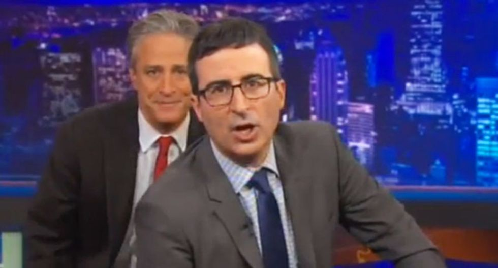 John Oliver takes over 'Daily Show' so Jon Stewart can promote his movie