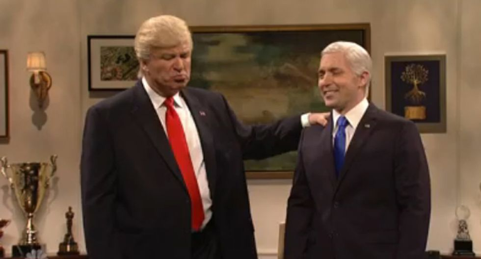 'F*ck you b*tch!': SNL star has 'never been more proud' that his show got under Trump's skin