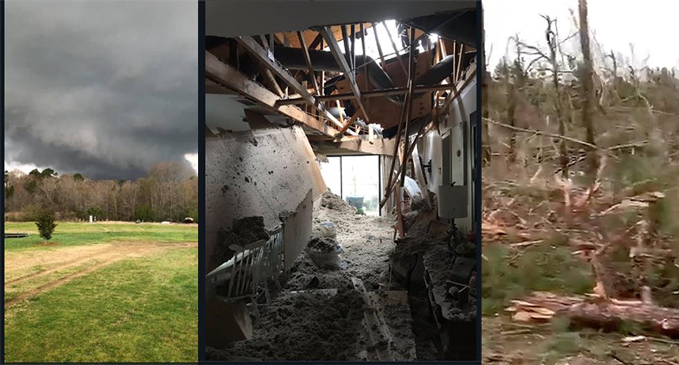 Local news reporter breaks down seeing devastation after Alabama tornado