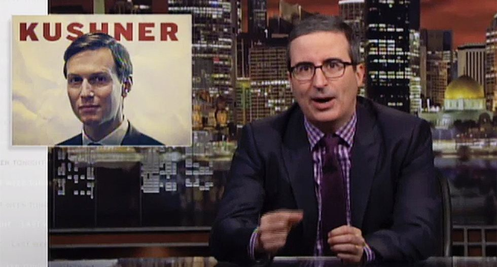 John Oliver: You can tell Jared Kushner is an idiot just by looking at him