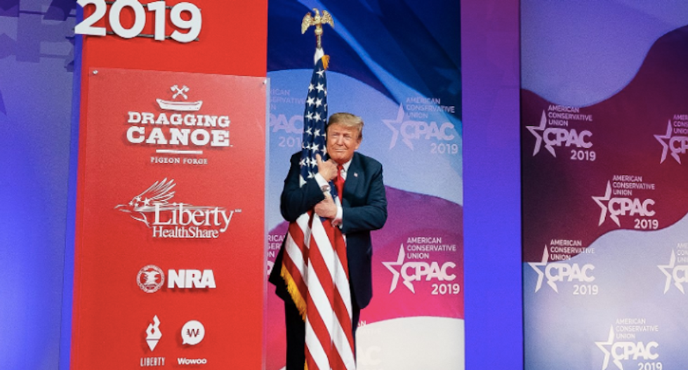 The internet winces at 'embarrassing' White House tweet celebrating Trump's 'flag molestation'