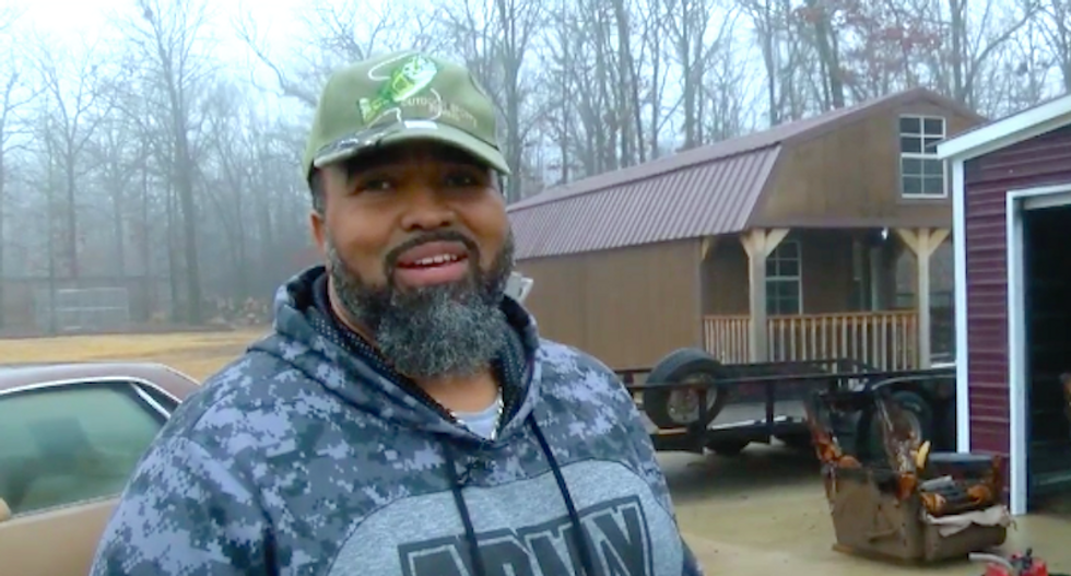 'Move n*gger': Black man's dog poisoned, truck stolen and garage burned since moving to Arkansas town