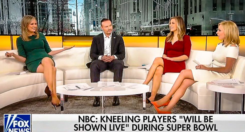 'It destroyed my soul': All-white Fox hosts rage over Super Bowl kneeling -- and it hasn't even happened yet