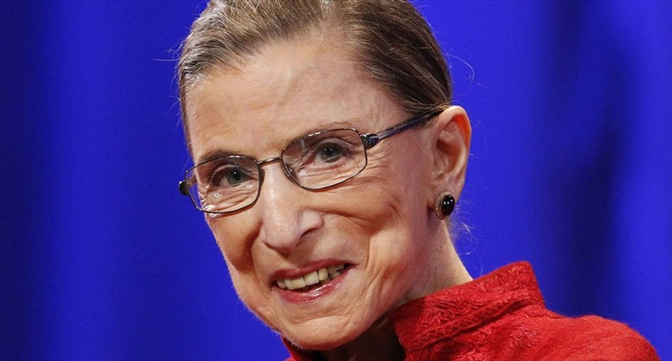 Supreme Court Justice Ruth Bader Ginsburg attends oral argument after cancer bout