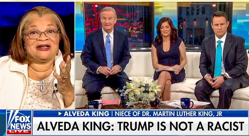 Fox & Friends uses MLK Day to have King's niece insist Trump isn't racist because black people have tax cuts