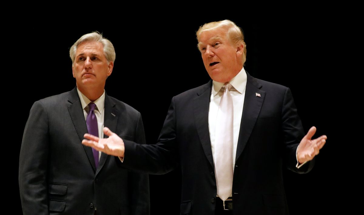Kevin McCarthy's 'win-at-all-costs style could backfire' as he tries to appease both Trump and his caucus: report