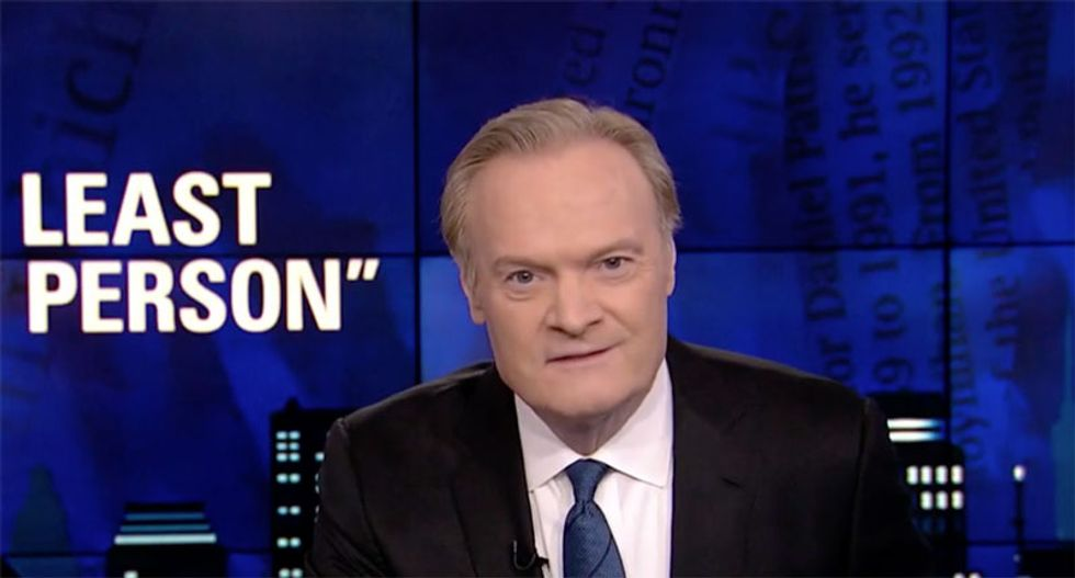 'Would a sane person ever say that?': Lawrence O'Donnell nails why Trump's 'least racist' claim is the latest sign he's mentally unfit