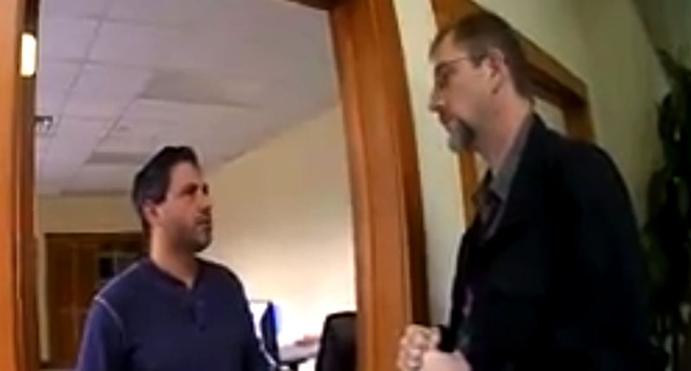 'We know it's you': Watch as police confront Idaho man for littering town in neo-Nazi flyers