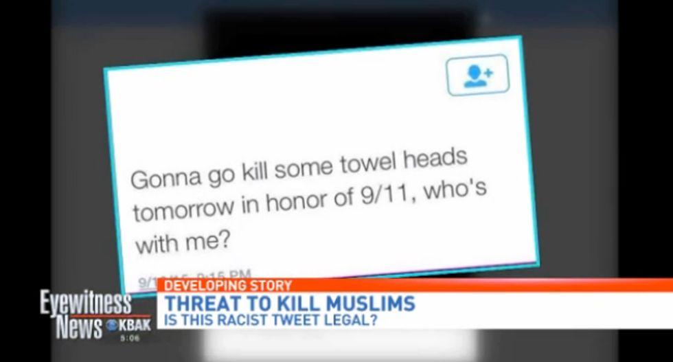 'My child is not a racist': Bakersfield mom defends son who tweeted he wanted to kill 'towel heads' on 9/11