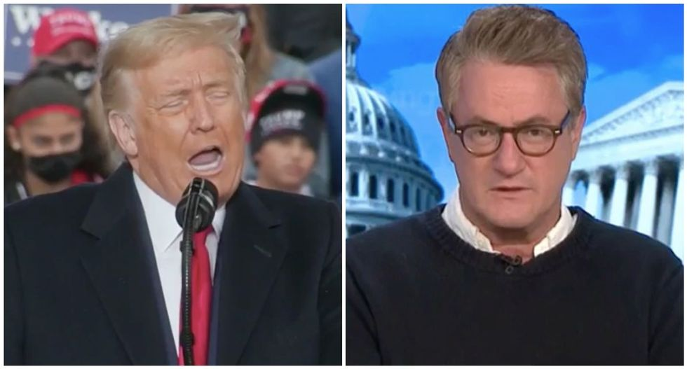 'He just looks desperate': Morning Joe panel destroys Trump's attempts to undermine the election