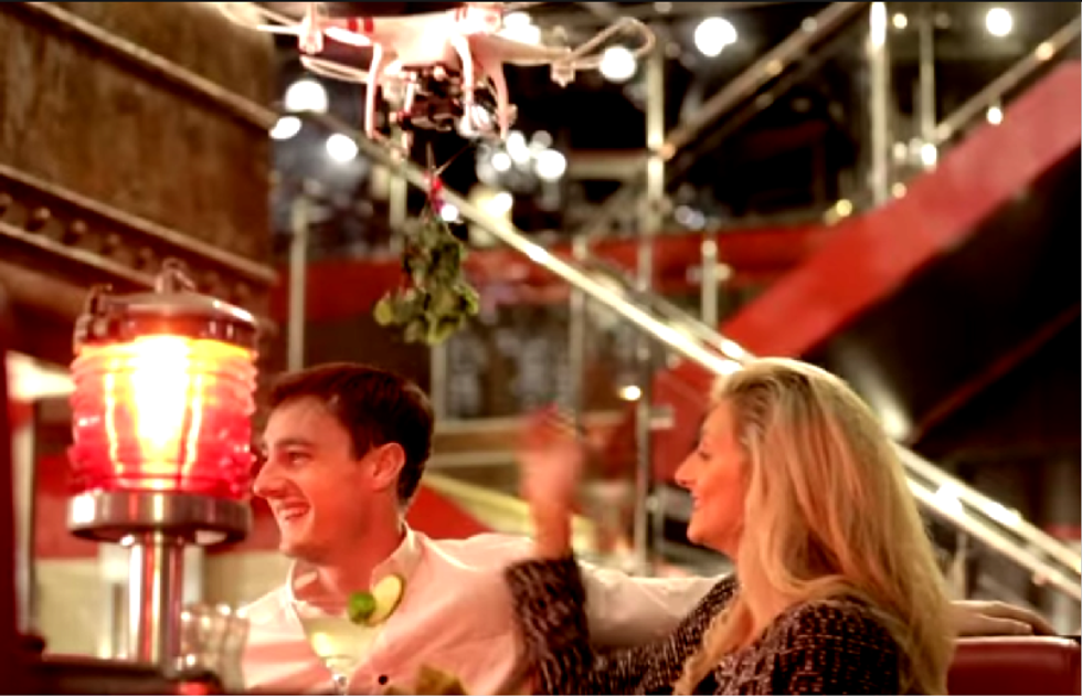 TGI Friday's 'Mobile Mistletoe' drone crashes into journalist, severs part of her nose