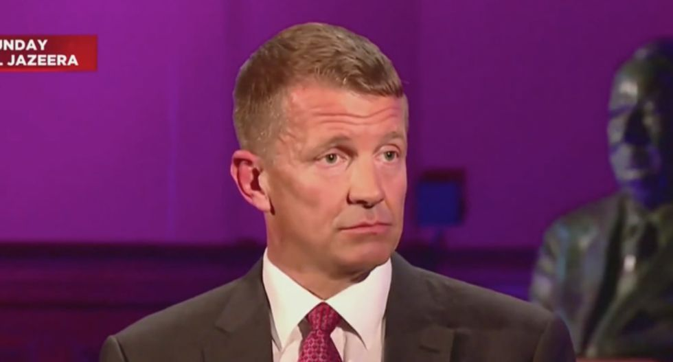 DOJ right now is deciding whether or not to charge Trump ally Erik Prince
