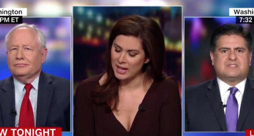 CNN's Erin Burnett and GOP pundit corner transition aide arguing Trump's 'fake news' cry doesn't embolden dictators