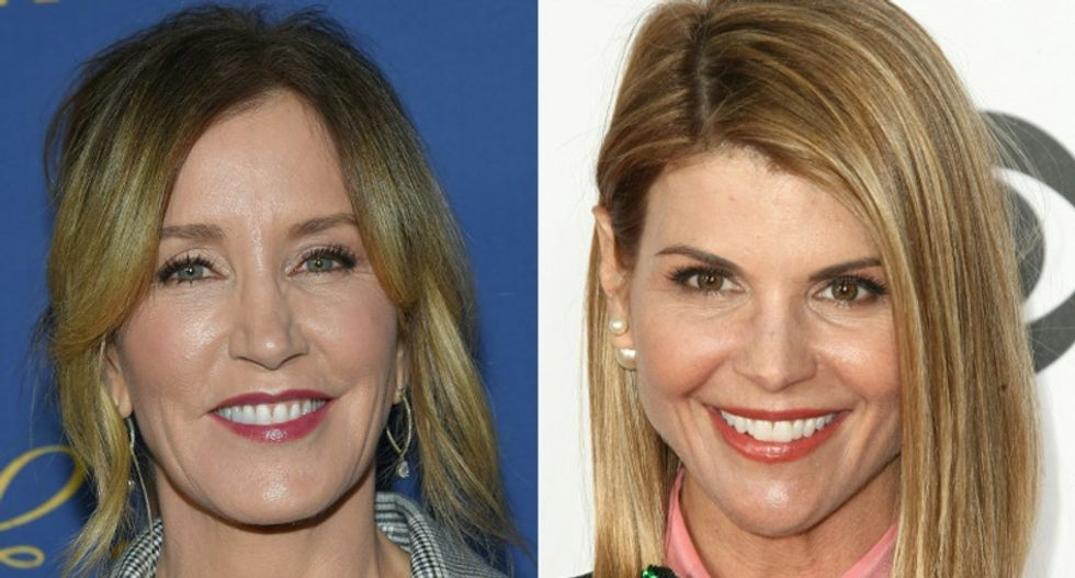 Actresses Lorie Loughlin and Falicity Huffman appear in court in US college admissions bribery suit