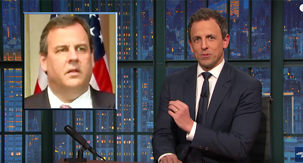 Seth Meyers crushes Chris Christie for standing meekly behind Trump: It's 'the worst way to die'