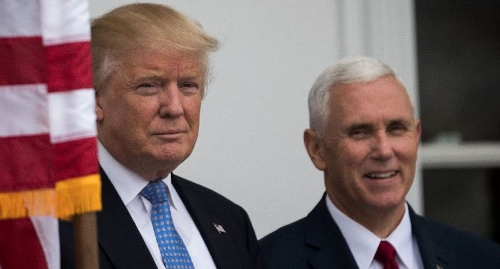 Enabling a dangerous president: Pence was there