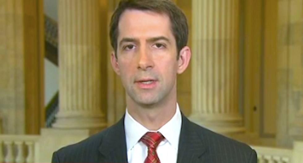 WATCH: Tom Cotton flounders trying to justify Trump's tax avoidance and private debt