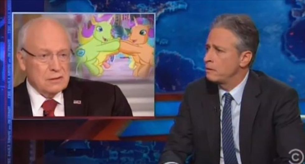 Jon Stewart: 'Puppet master' Dick Cheney's mind is 'the scariest f*cking place in the universe'