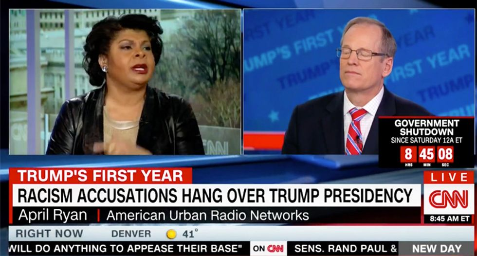 'Jack, you have to stop this': Watch April Ryan scold Jack Kingston for continuing to defend Trump's racism