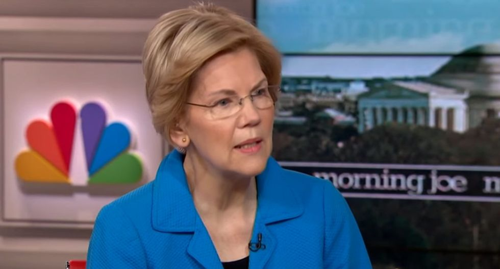 Elizabeth Warren: Trump is 'trying to turn this health crisis into a political rally for himself'