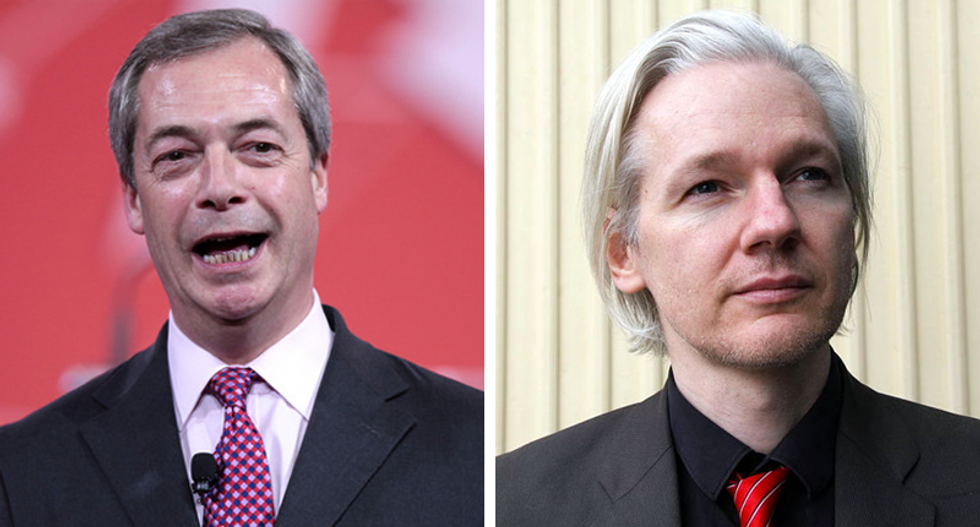 Nigel Farage handed WikiLeaks' Julian Assange  'a thumb drive' of data during secret meeting: Fusion GPS founder
