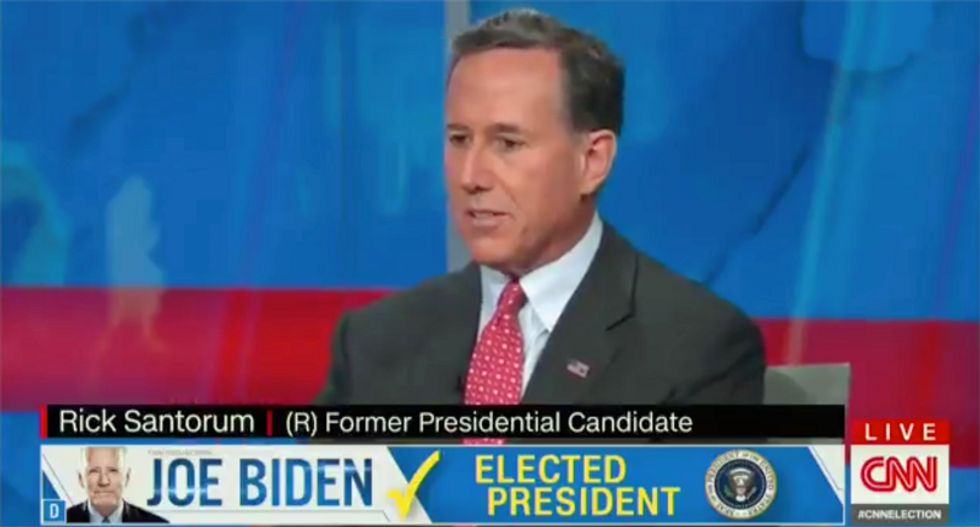Rick Santorum ripped for saying Trump needs 'conditions' to concede: 'Sounds like a hostage negotiation'