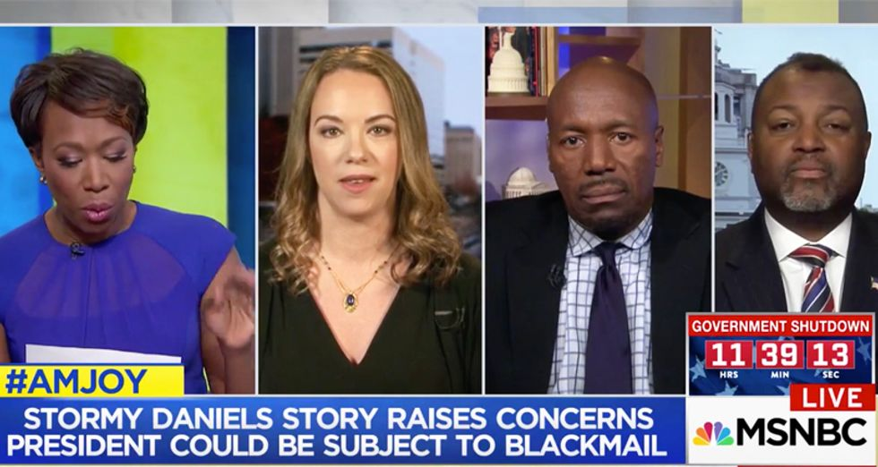 AM Joy panel ridicules 'scumbag' Trump for having to employ a 'lawyer goon squad' to avoid being blackmailed