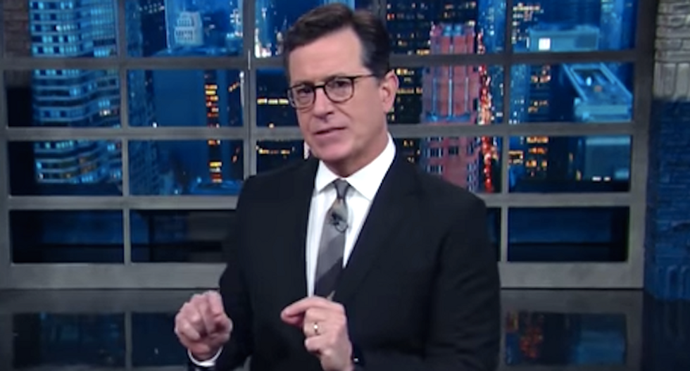 'Everybody run for your life': Stephen Colbert hilariously impersonates Mitch McConnell