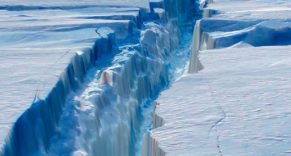 Mysterious 'crater' in Antarctica ice sheet explained