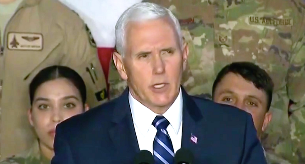 MSNBC panel blisters Mike Pence for 'using troops as props' to attack Democrats on shutdown