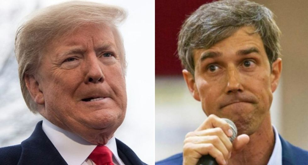Ahead of Donald Trump's visit to El Paso where 22 are dead, the president tells Beto O'Rourke to be 'quiet!'