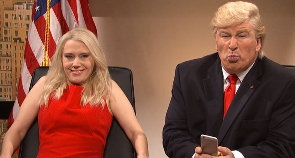 'I do it because my brain is bad': SNL spoofs Trump's inability to stop retweeting random idiots