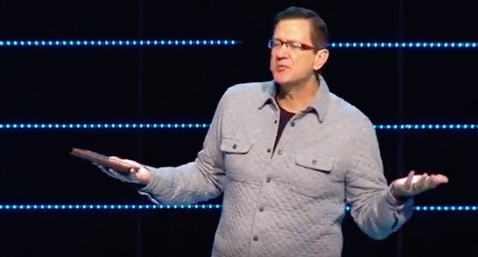 WATCH: Megachurch pastor compares critics to 'the devil' after sex abuser gets a standing ovation