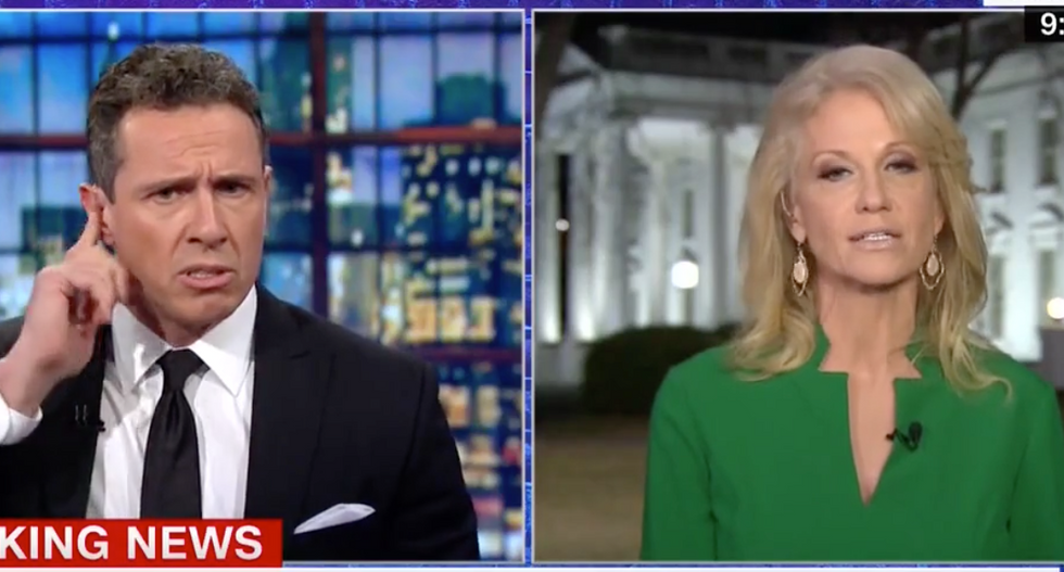 'Cut it out!': Interview goes off the rails after Kellyanne Conway accuses CNN's Cuomo of not caring about border security